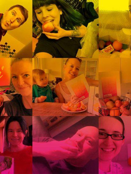 pomcanys fruitbox selfie